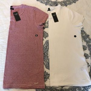 NEW! Abercrombie & Fitch Striped T Shirt Set XL
